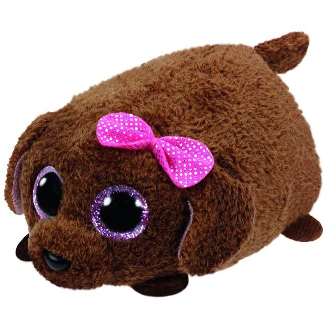 Teeny Tys Dog Maggie Plush Toy - Brown, 10cm