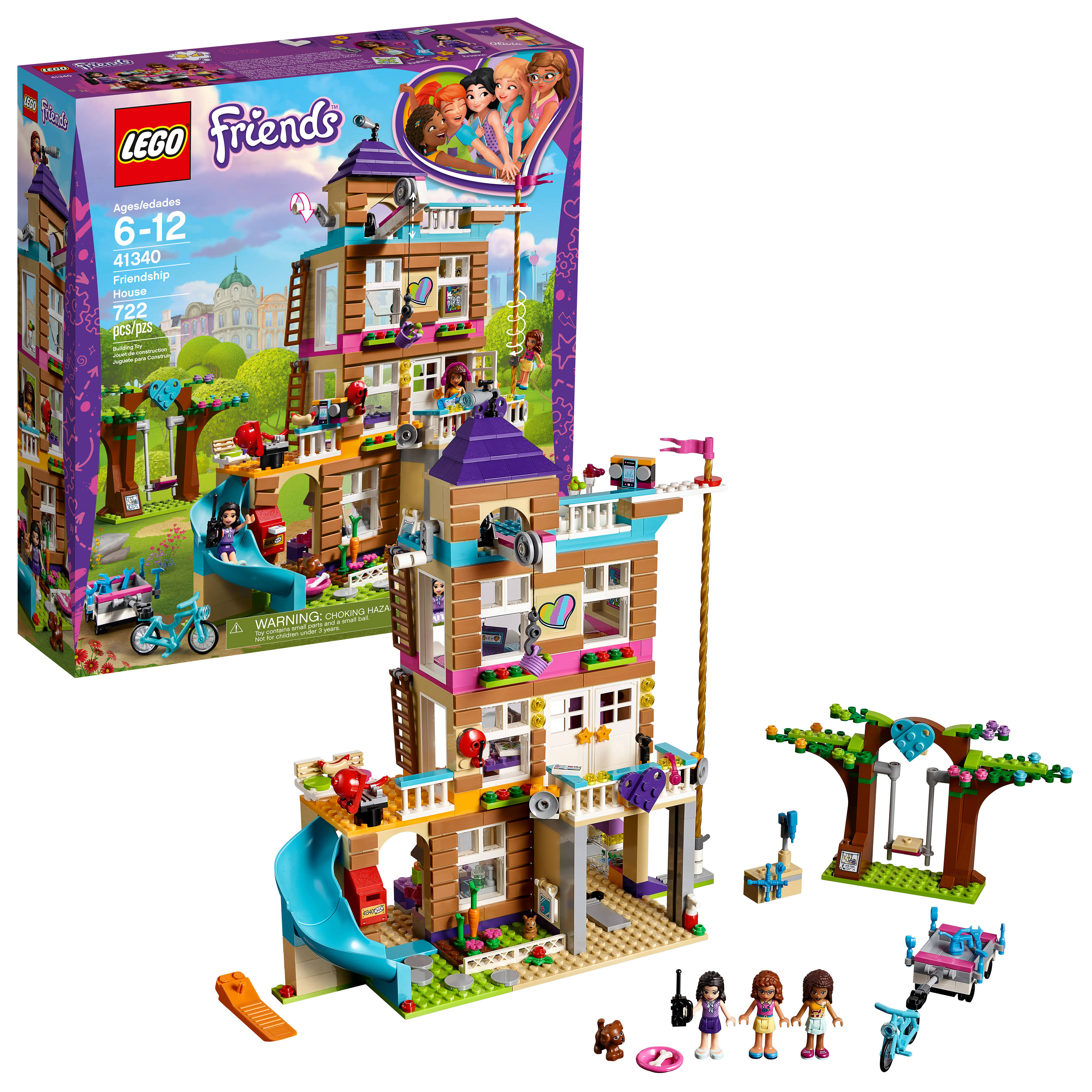 LEGO Friends 41340 Friendship House Building Kit - 722pcs