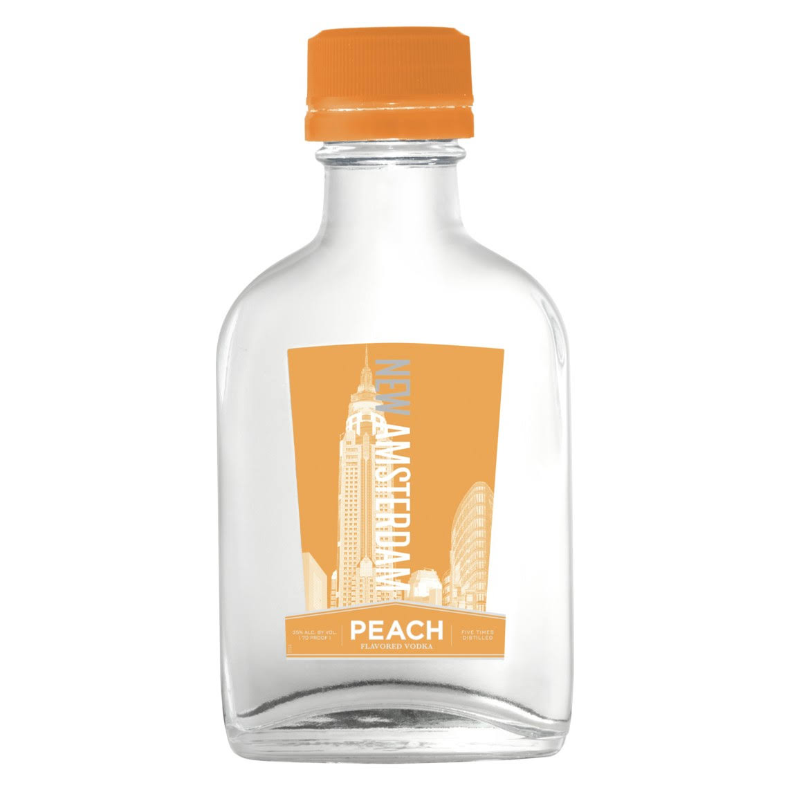 New Amsterdam Peach Vodka - 100ml Bottle, Size: 100 ml