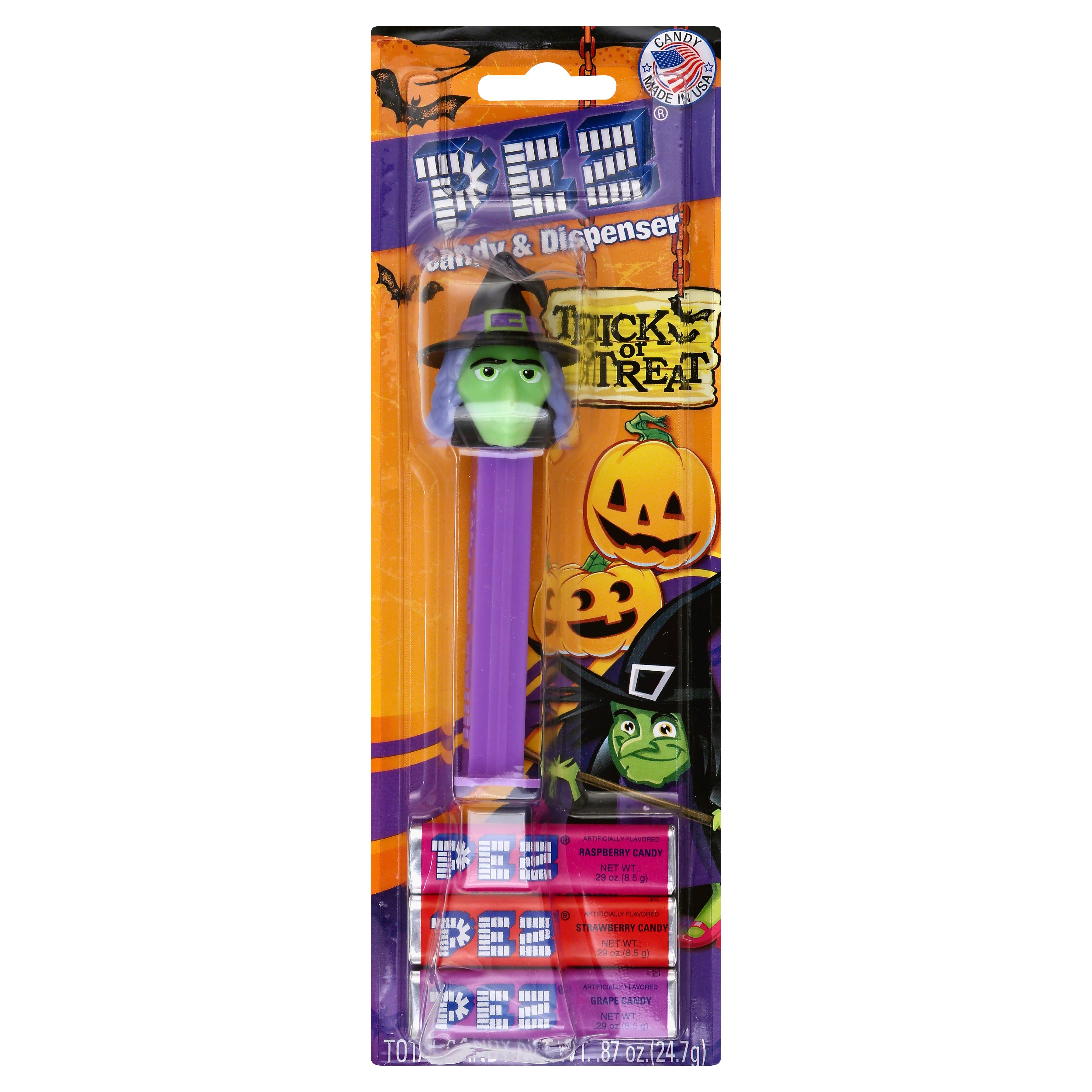 PEZ Candy & Dispenser, Trick or Treat - 0.87 oz