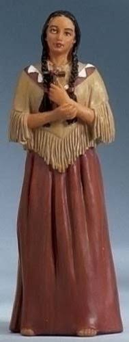 Roman St. Kateri Tekakwitha Catholic Christian Confirmation Prayer Card Figurine