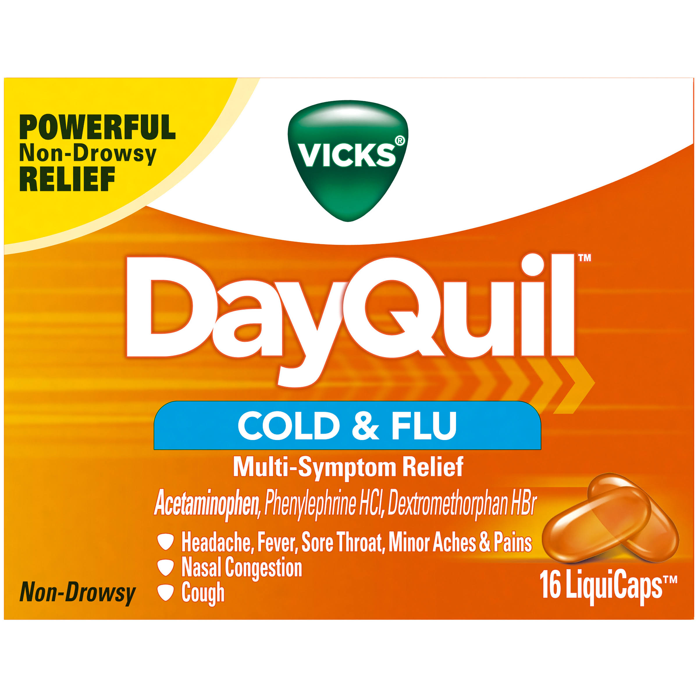 Dayquil Cold and Flu Multi Symptom Relief Liquicaps - 16ct