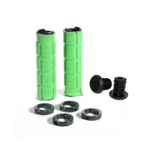 Oury Lock On Bonus Pack Mountain Bike Grips - Green, 130mm