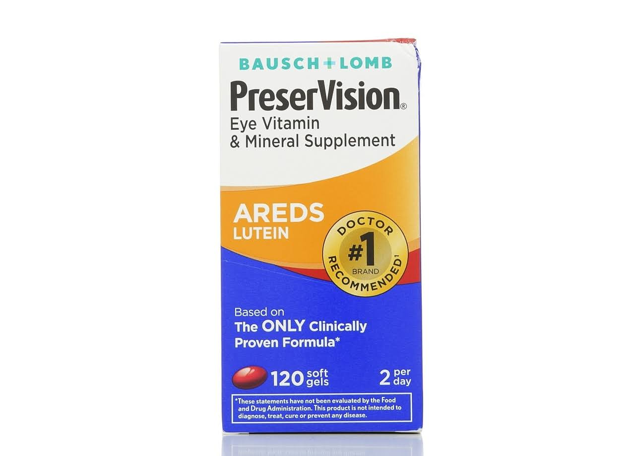 Bausch + Lomb Preservision Areds Lutein - 120 Softgels