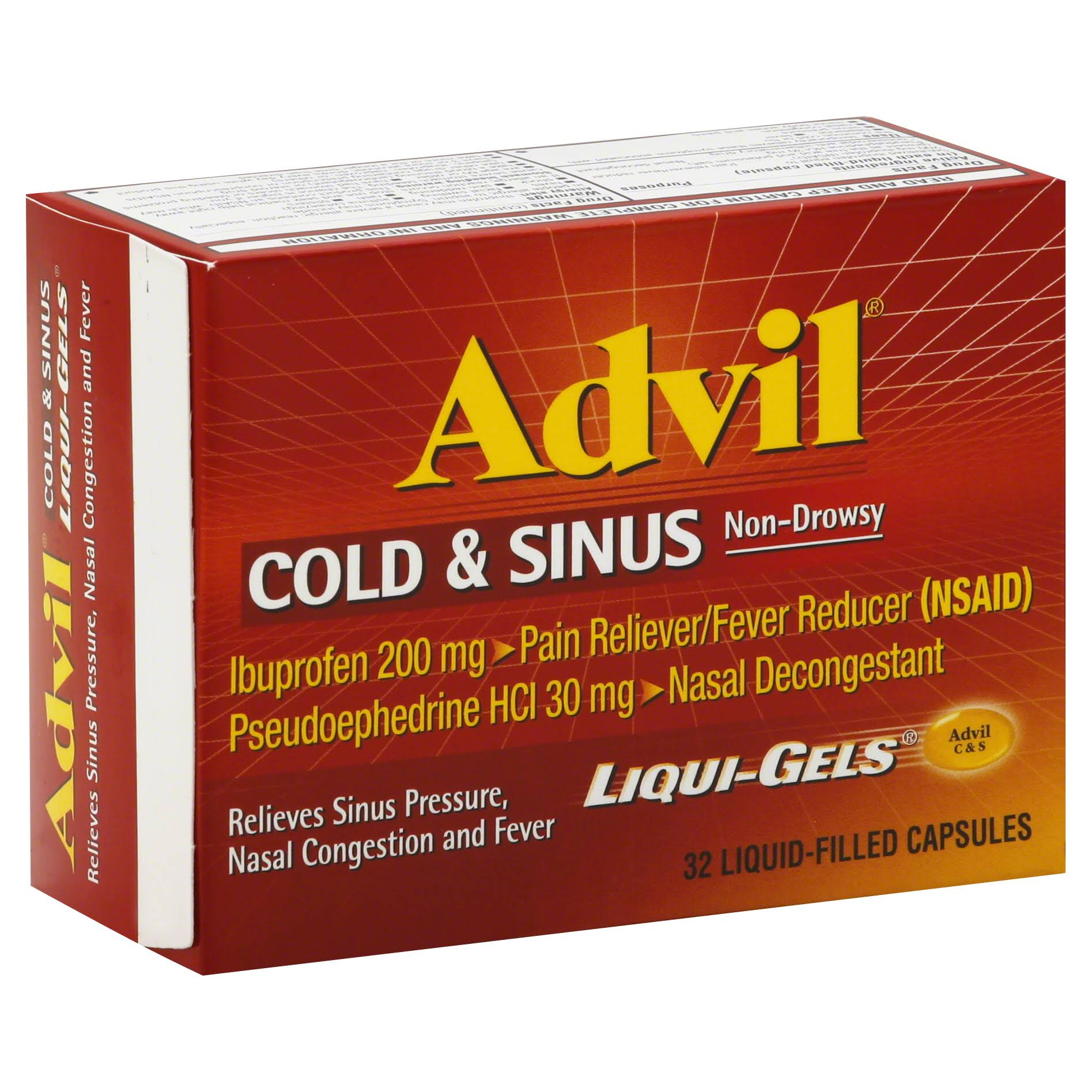 Advil Cold & Sinus Liqui-Gels - 32 Count