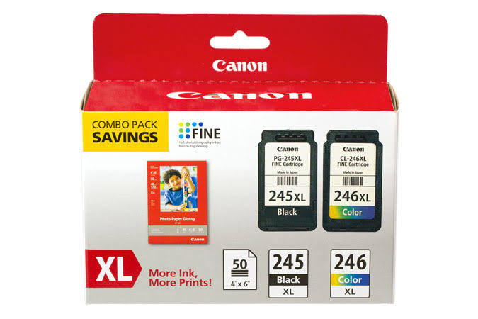 Canon 8278B005 PG-245XL/CL-246XL Ink & Paper Combo Pack