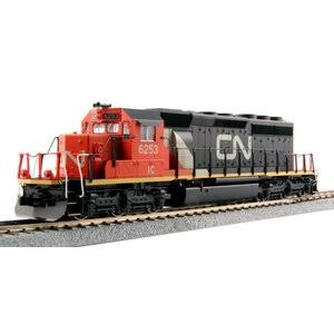 Kato EMD SD40-2 Mid Locomotive Canadian National Train Model Toy - HO Scale