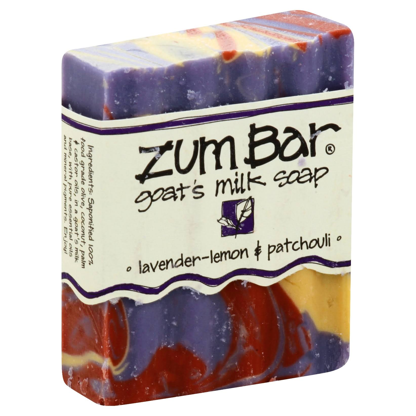 Zum Bar Goat's Milk Soap - Lavender-Lemon & Patchouli, 3oz