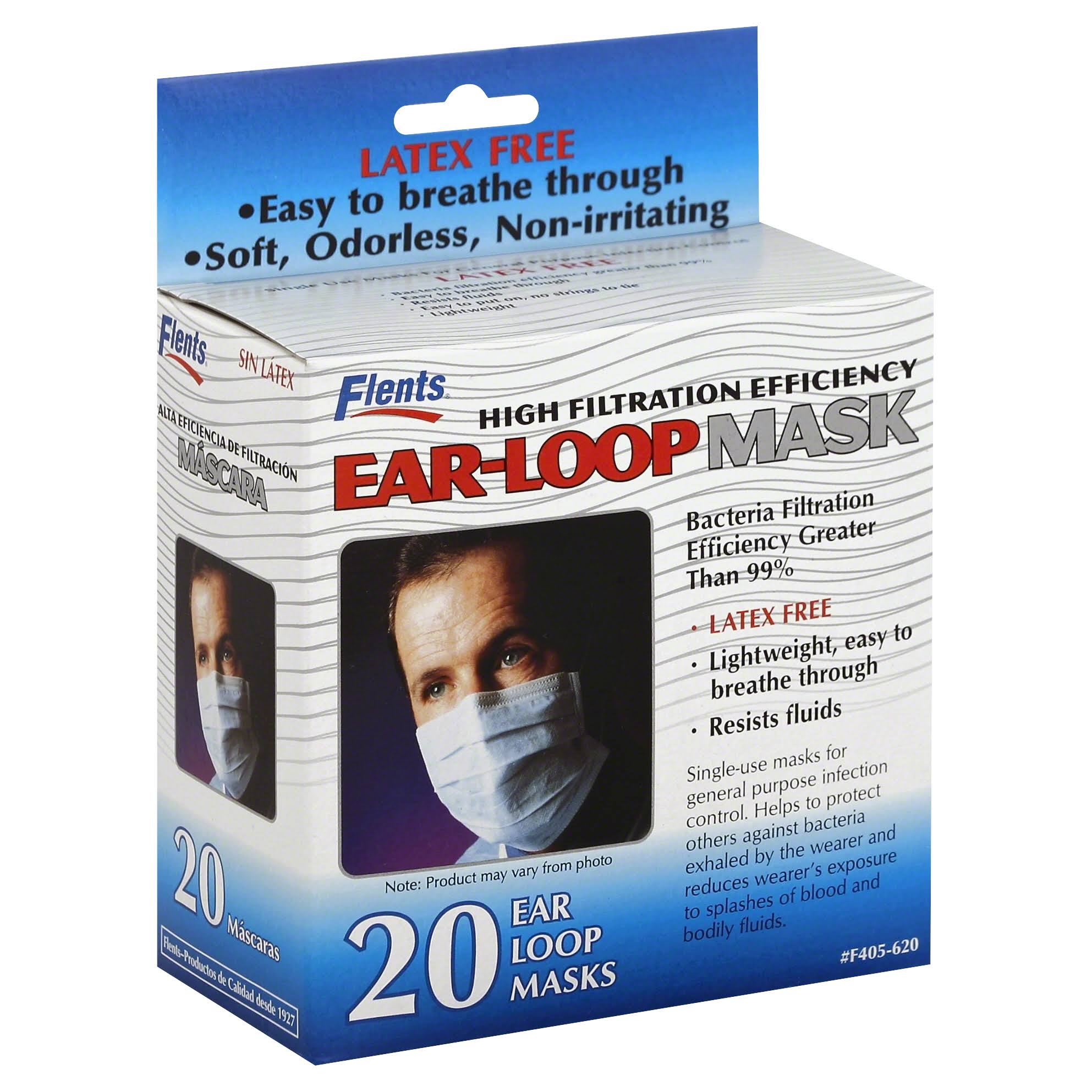 Flents Bacterial Filtration Efficiency Ear Loop Masks - x20
