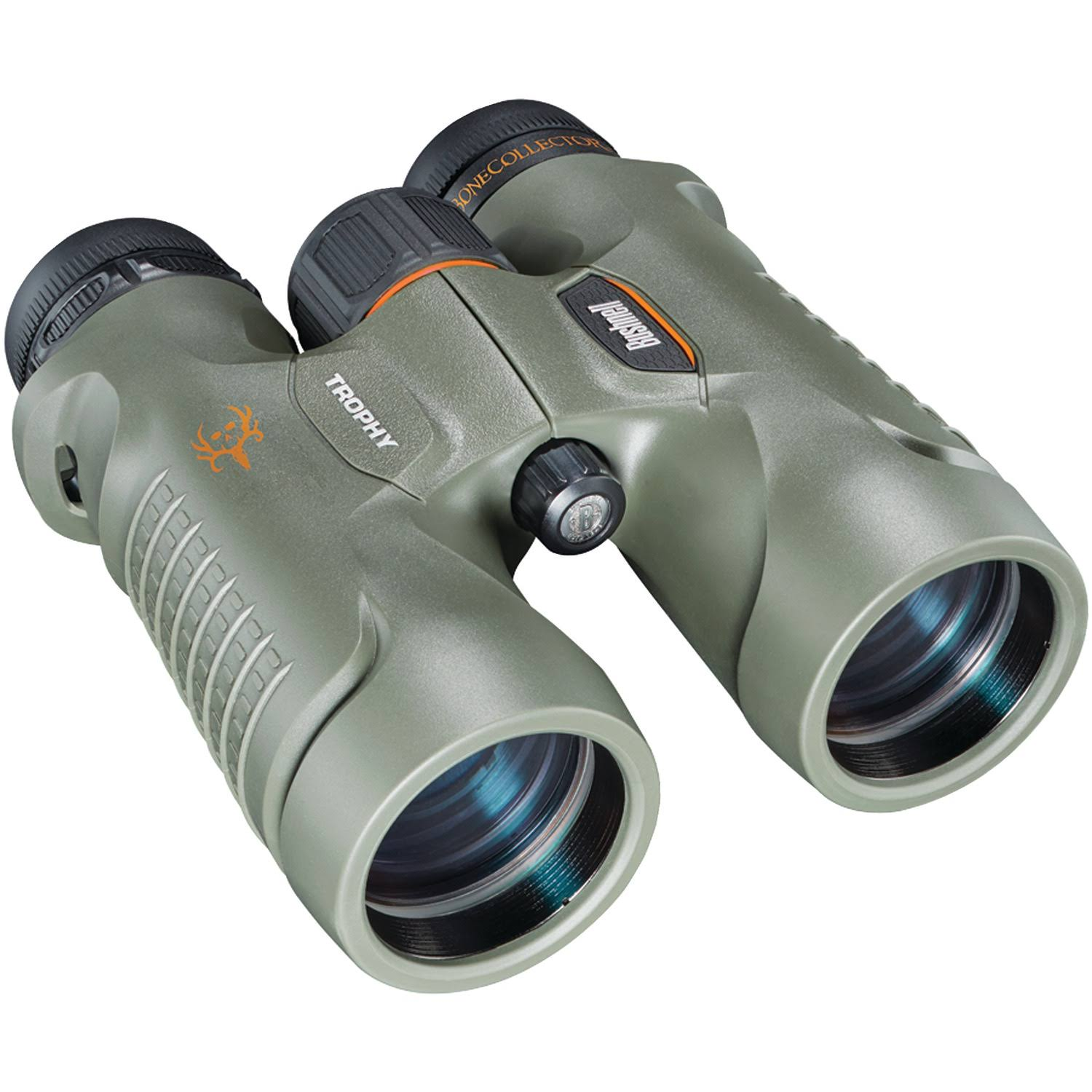 Bushnell Trophy Bone Collector Binoculars - 10mm x 42mm, Green, Roof Prism