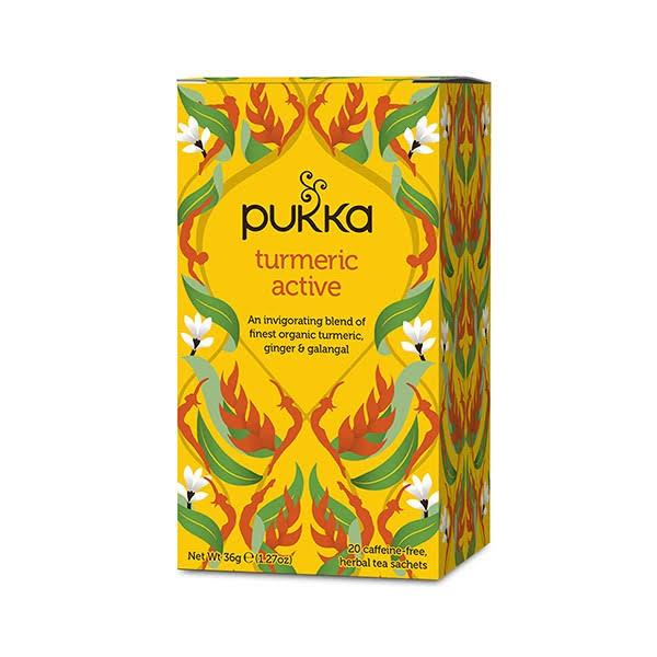 Pukka Organic Herbal Tea - Turmeric Active, 20 Tea Bags, 36g