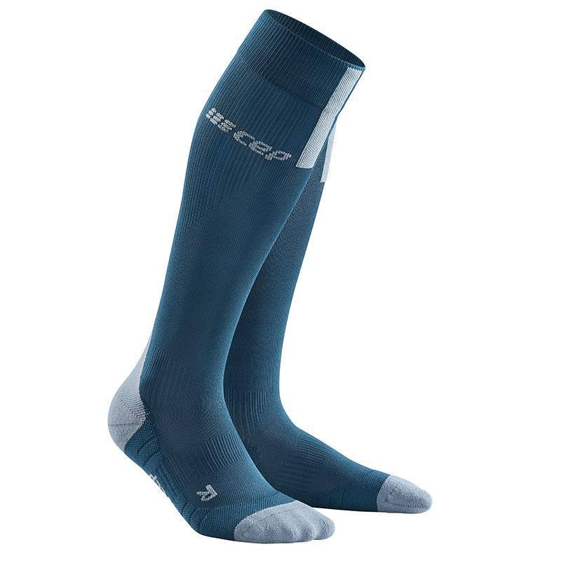 Cep Mens Run 3.0 Compression Socks - Blue and Grey