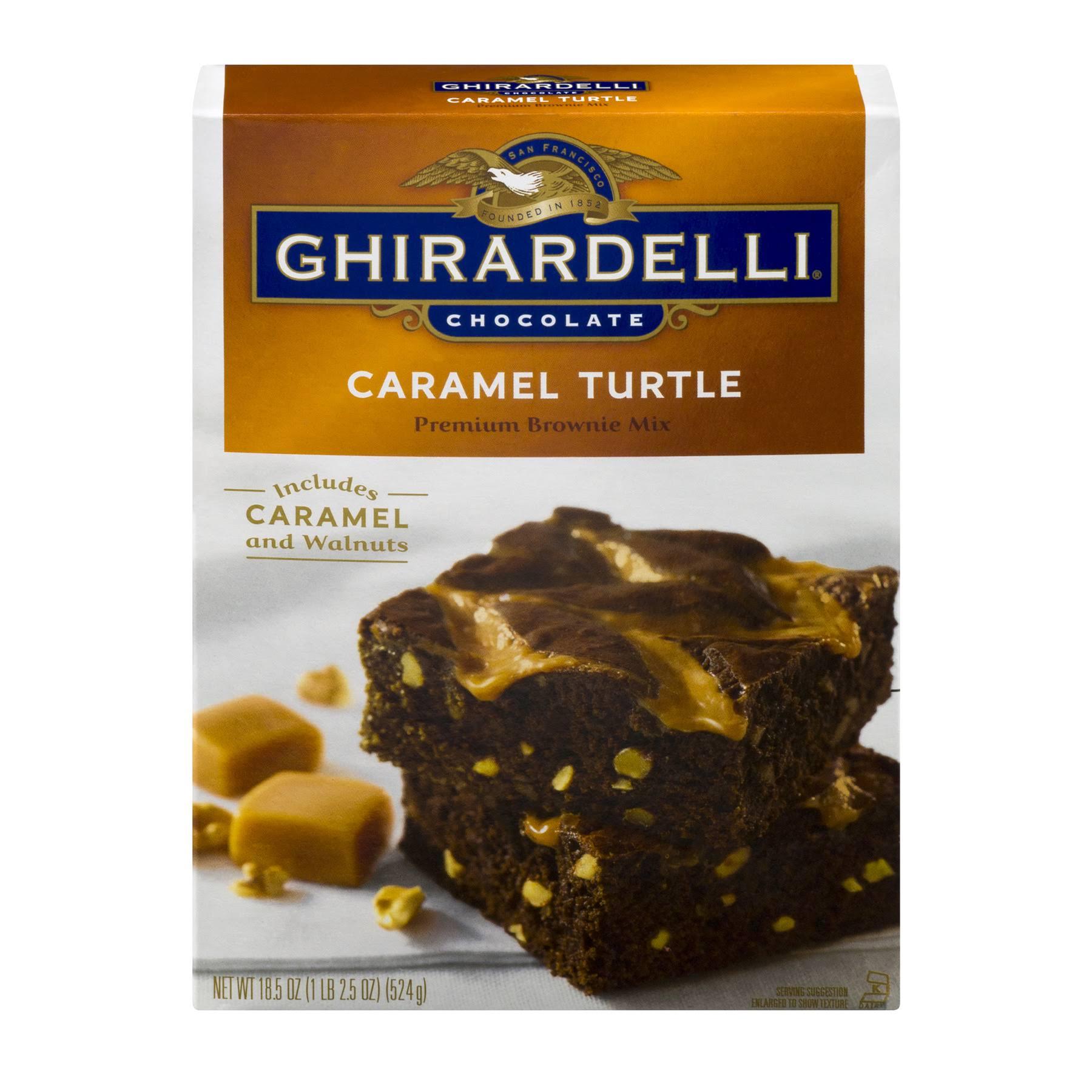 Ghirardelli Turtle Brownie Mix - Chocolate Caramel, 18.5oz