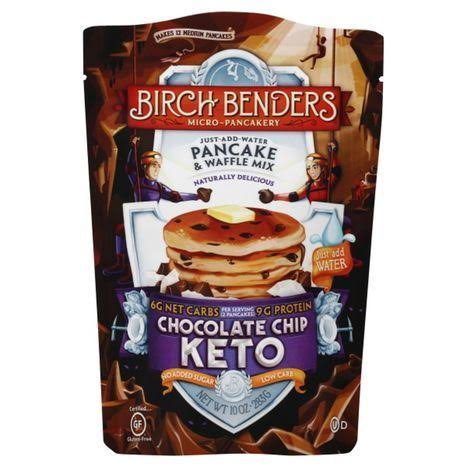 Birch Benders Pancake & Waffle Mix, Keto, Chocolate Chip - 10 oz