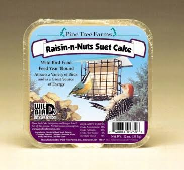 Pine Tree Farms ptf1750 12 oz Raisin-N-Nut Suet Cake