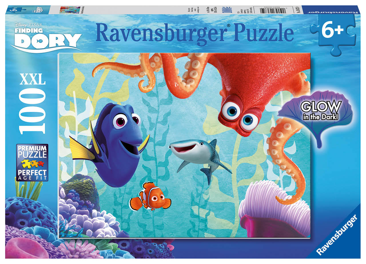 Ravensburger Disney Finding Dory Glow In The Dark Puzzle Box Set - 100pcs