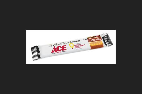 Worlds Finest Chocolate Ace Caramel and Milk Chocolate Candy Bar 1.3 oz.