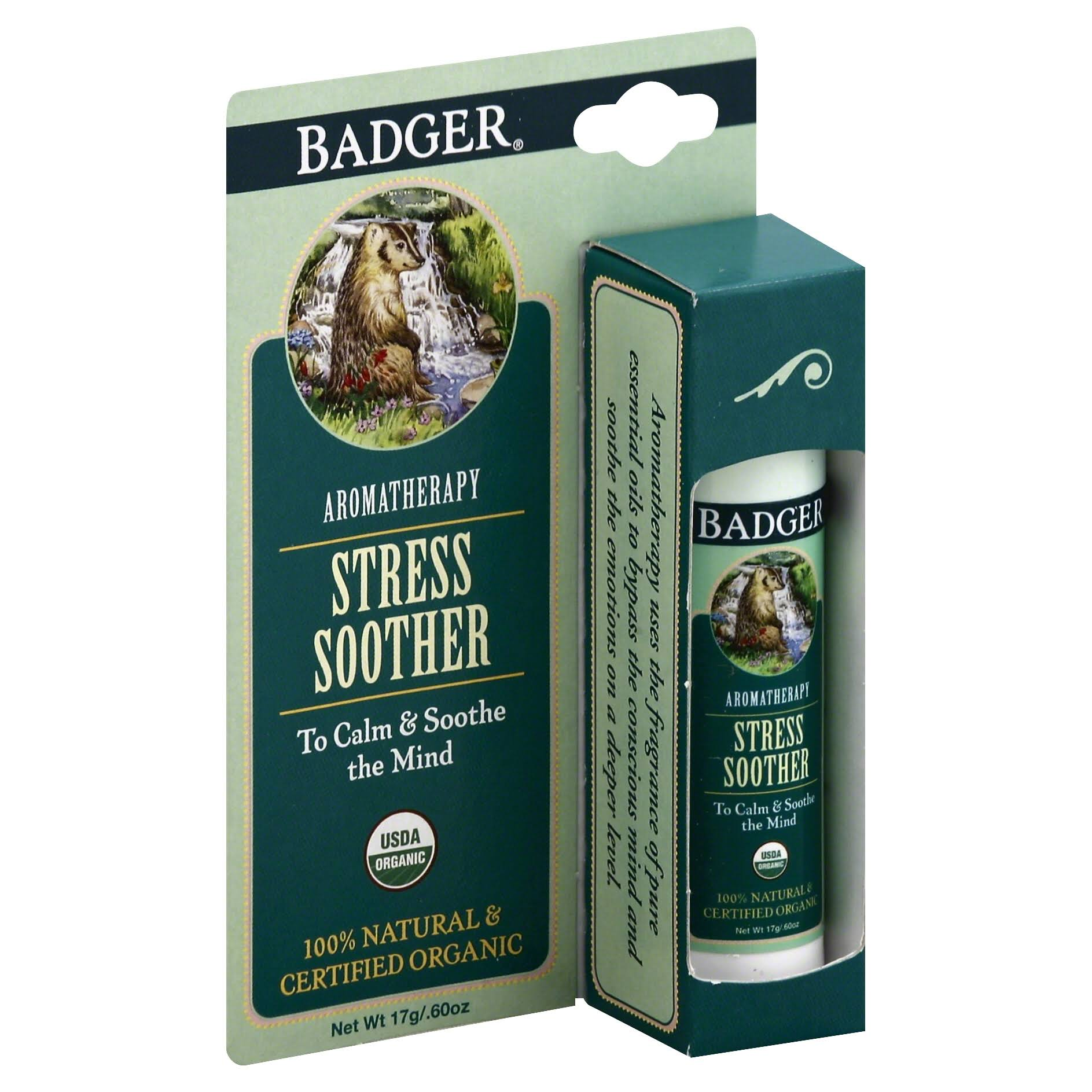 Badger Aromatherapy Stress Soother Balm - 0.6oz