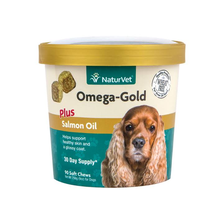 Natur Vet 90 Count Omega Gold Plus Salmon Oil Soft Chews - 90 Chews