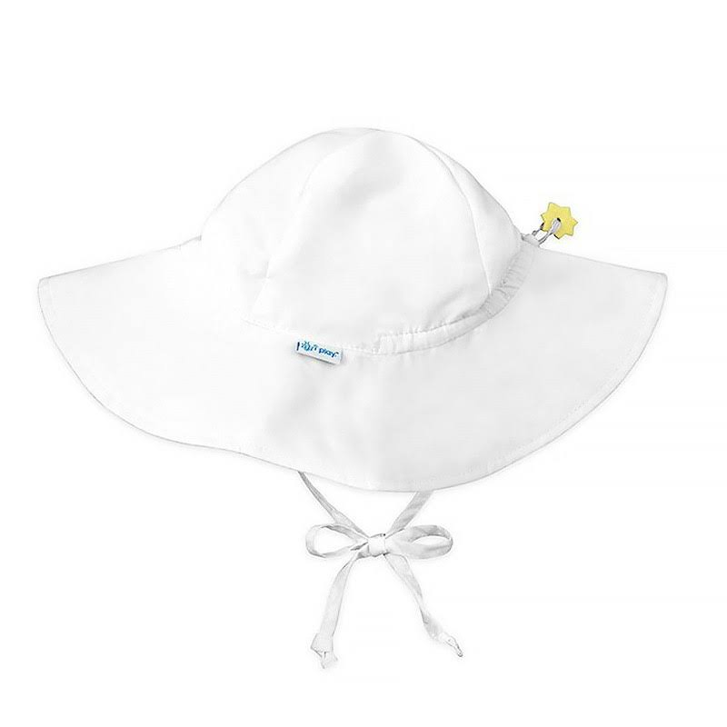 I Play. Brim Sun Protection Hat-White-2T/4T