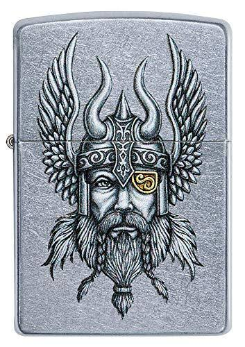 Zippo 29871 Nordic Viking Warrior Street Chrome Finish Lighter