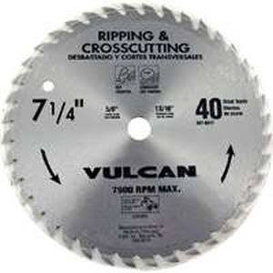 Vulcan Steel Thin Kerf Circular Saw Blade - 40 Teeth, 7 1/4""