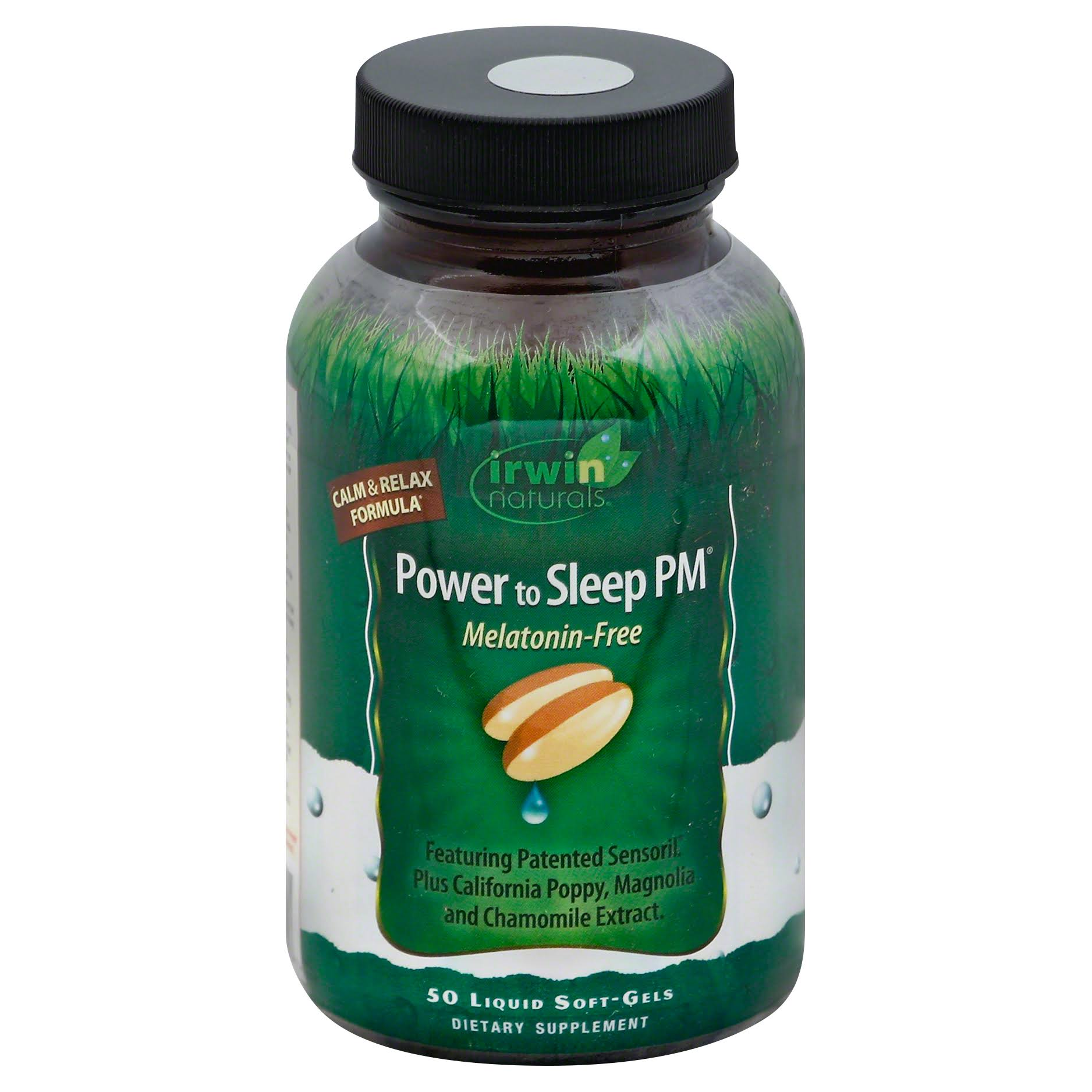 Irwin Naturals Power To Sleep Pm Melatonin-Free - 50 Liquid Soft-Gels