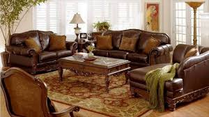 Brown Couch Room Designs by Brown Leather Furniture Youtube