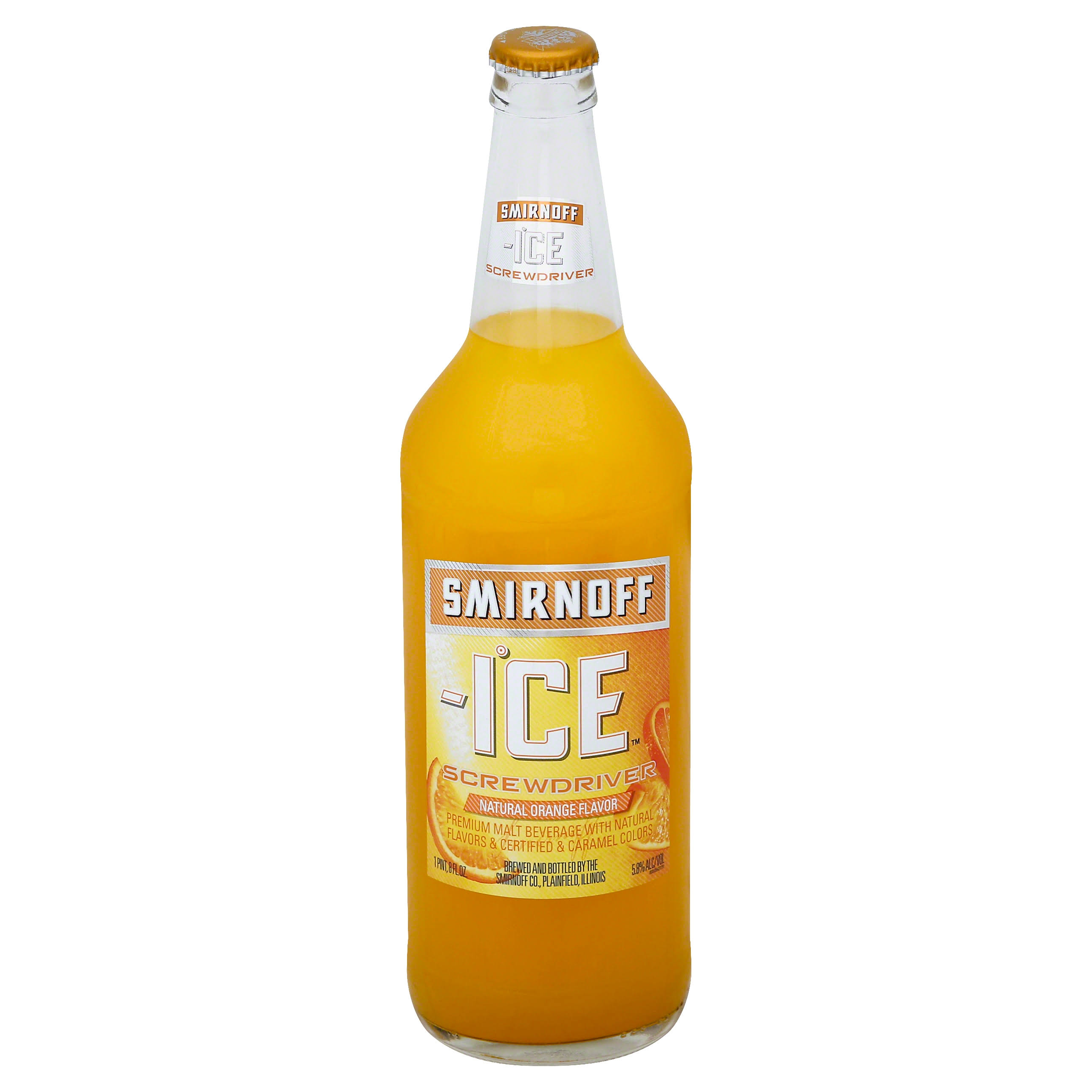 Smirnoff Ice Malt Beverage, Premium, Screwdriver - 24 oz