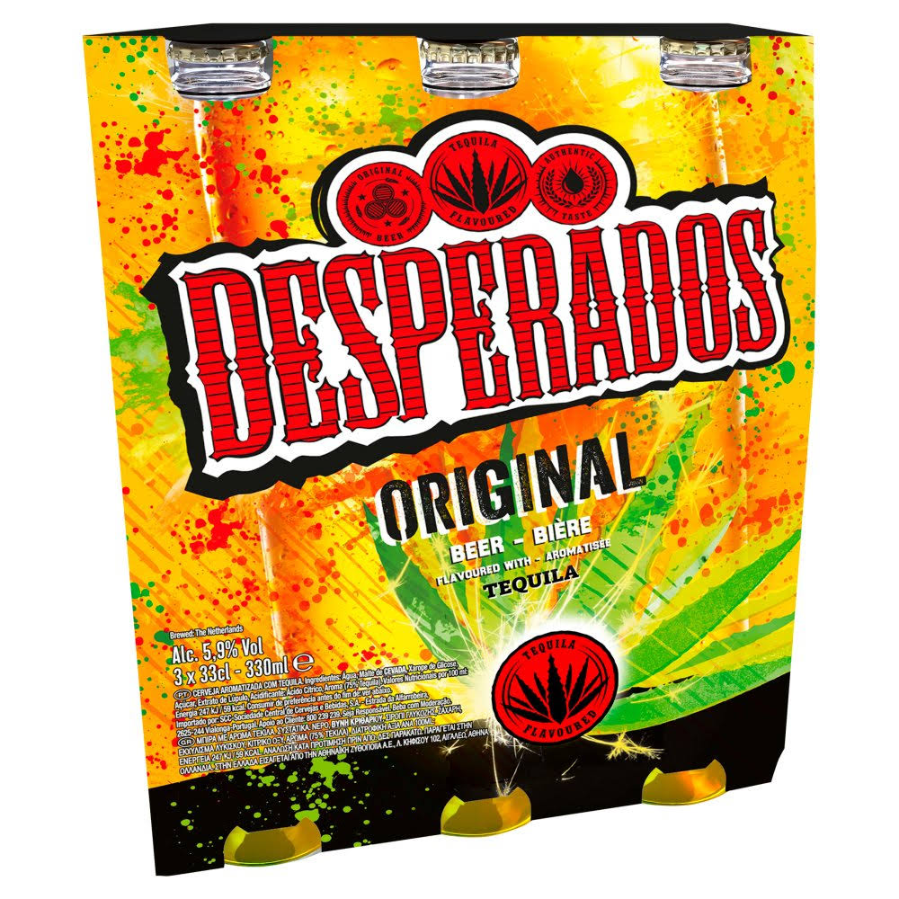 Desperados Tequila Beer - Original, 33cl, 3ct