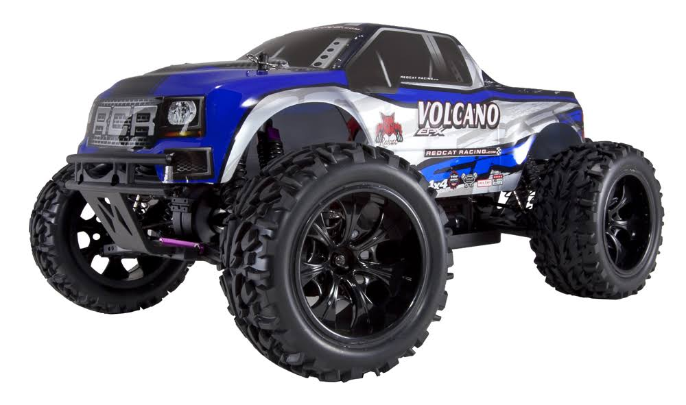 Redcat Racing Volcano EPX Electric 4wd Monster Truck - Blue and Silver, 1:10 Scale