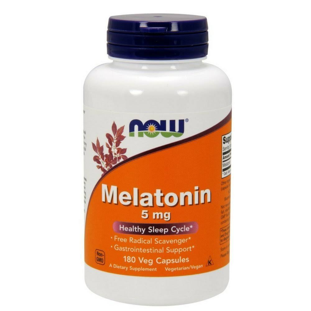 NOW Foods Melatonin - 180 Veg Capsules