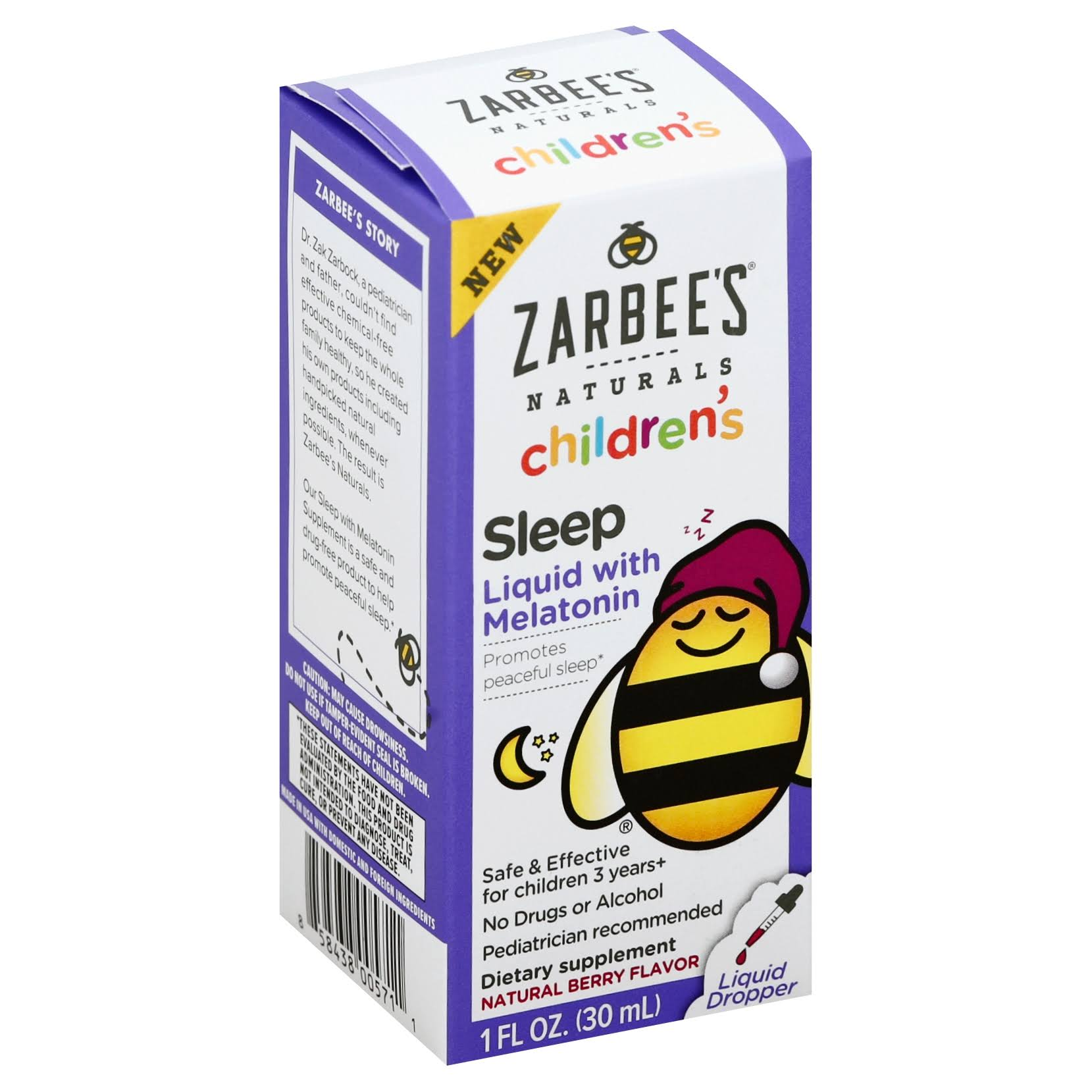 Zarbee's Naturals Children's Sleep Liquid - Berry Flavor, 1oz
