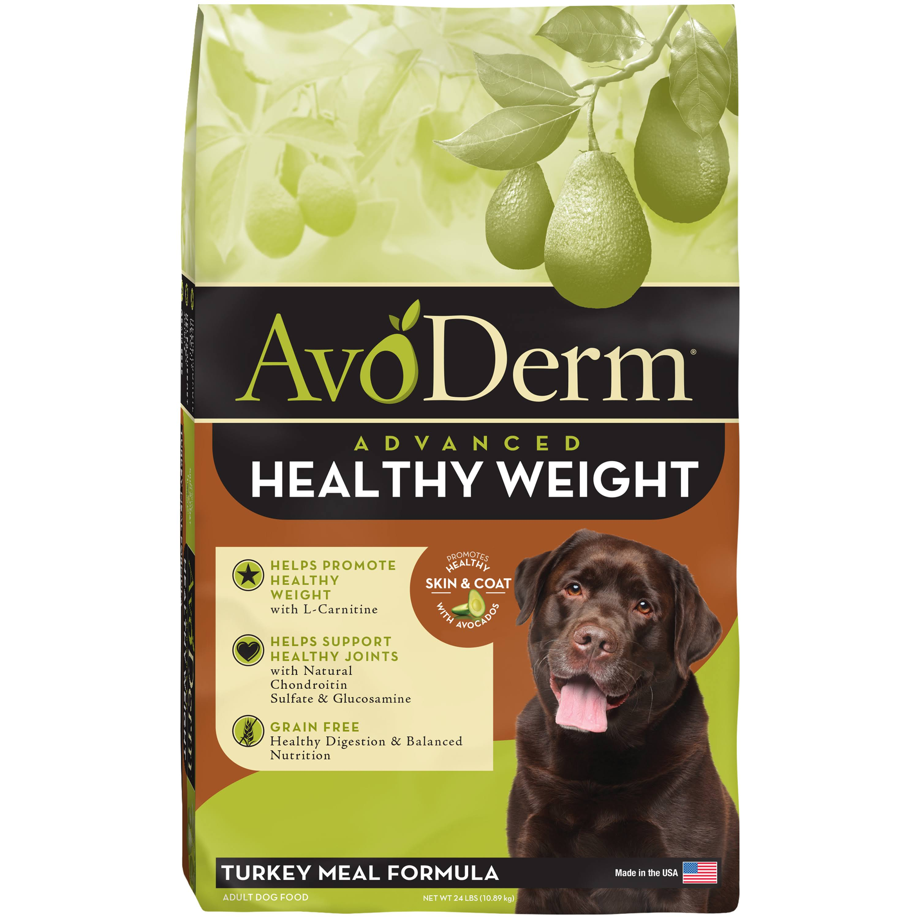 AvoDerm Grain Free Advanced Healthy Weight Turkey Meal Recipe Dry Dog Food - 24-lb