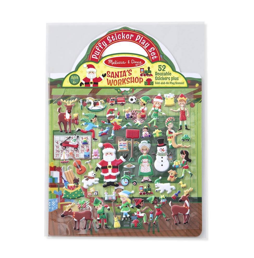 Melissa & Doug Puffy Stickers Santa's Workshop Toy