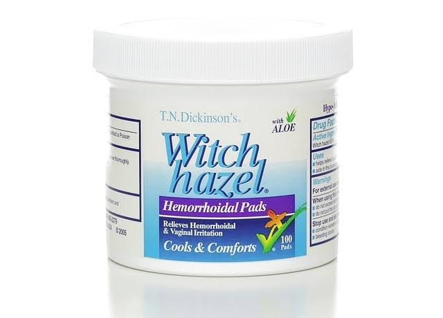 T.N. Dickinson Witch Hazel Hemorrhoidal Pad - 100 Pads