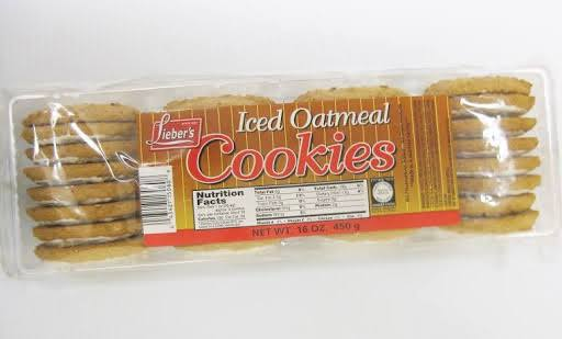 Liebers Oatmeal Cookies, Size: 0016.000