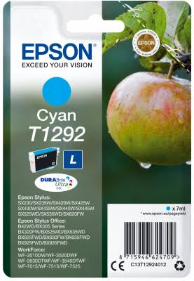 Epson T1292 Ink Cartridges - 7ml, Cyan
