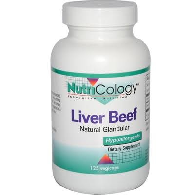 Nutricology Liver Beef Dietary Supplement - 125 Vegicaps