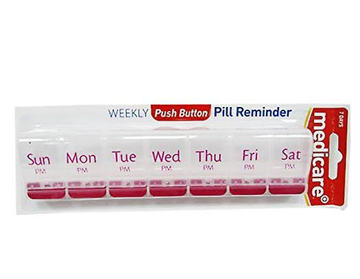 Medicare Weekly Push Button Pill Reminder PM