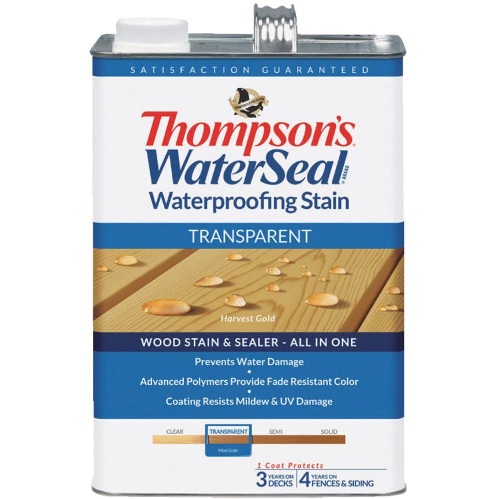 Thompson's WaterSeal Transparent Waterproofing Stain - Harvest Gold, 1gal