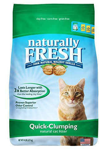 Naturally Fresh Walnut Quick-Clumping Cat Litter, 14 Pounds