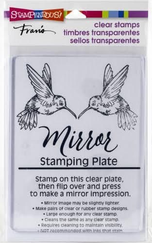 Stampendous SSC1330 4 x 5.5 in. Mirror Stamping Plate - Clear