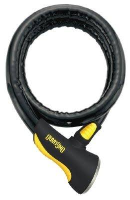 Onguard Rottweiler Armored Coil Cable Lock - Black, 6'x25mm