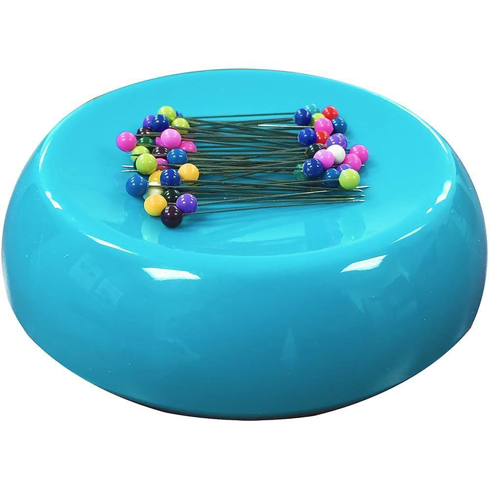 Blue Feather Grabbit Magnetic Pincushion - Teal