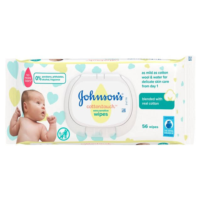 JJohnson's Cottontouch Extra Sensitive Wipes - 56 Wipes