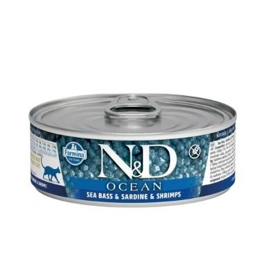 Farmina Natural and Delicious Canned Cat Food - Sea Bass, Sardine and Shrimp