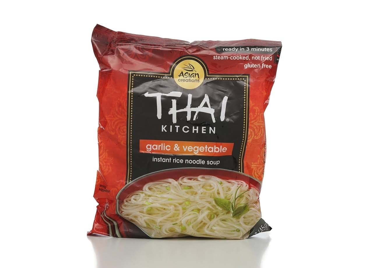 Thai Kitchen Instant Rice Noodle Soup - Garlic and Vegetables, 1.6oz