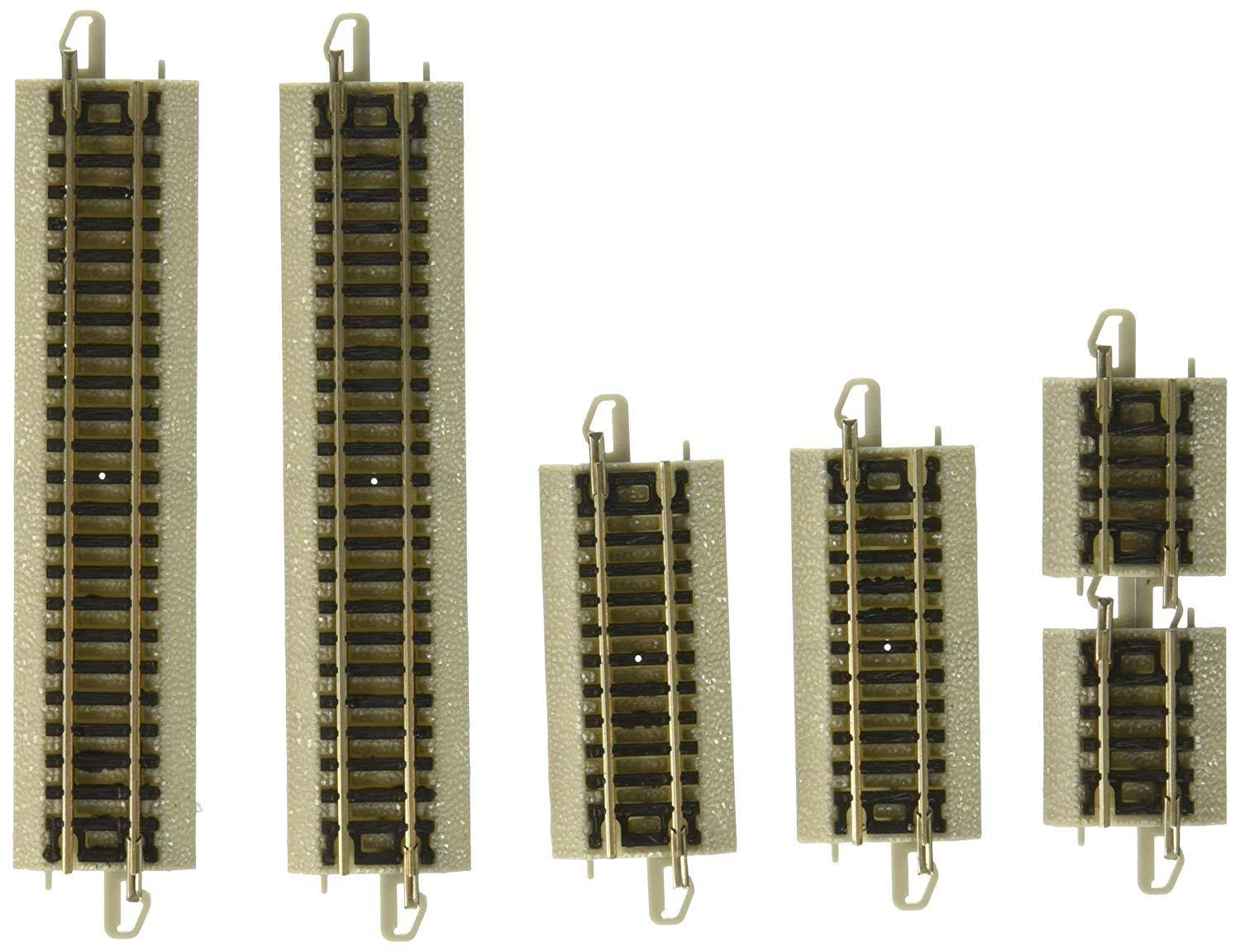 Bachmann N E-z Track Assorted Straight 6 NS Train Short Track - Gray