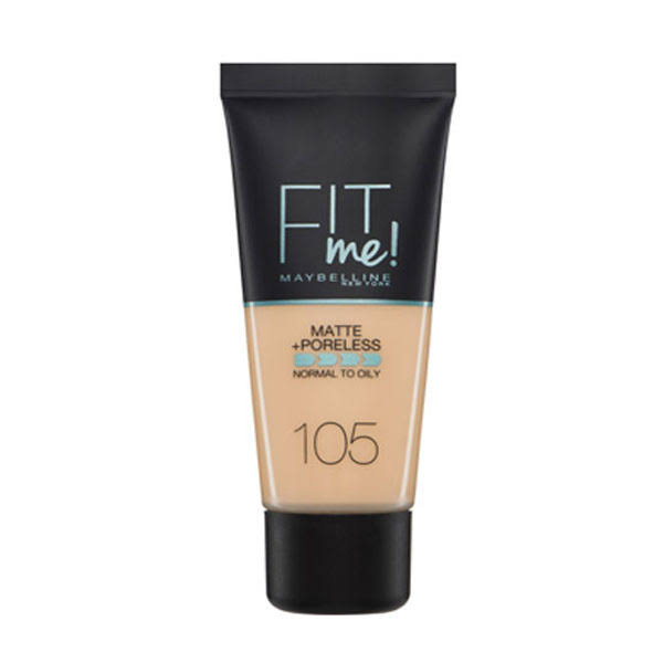 Maybelline Fit Me Matte Plus Poreless Foundation - 105 Natural Ivory, 30ml